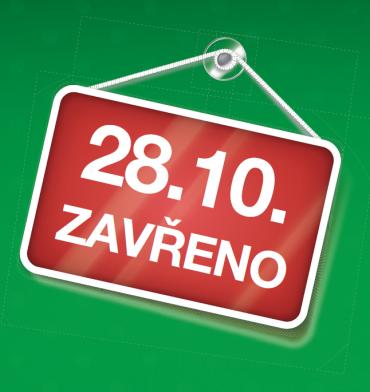 O státním svátku 28. 10. máme zavřeno!