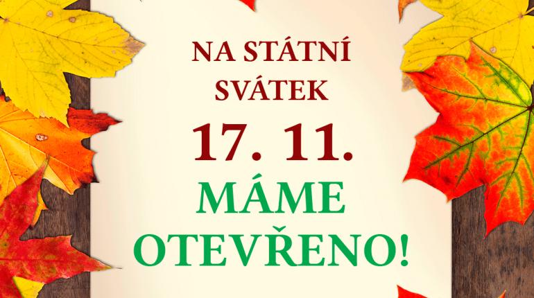 17.11 máme otevřeno