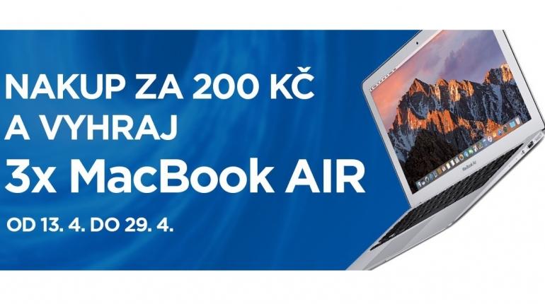 Nakup za 200 Kč a vyhraj 3x MacBook Air!