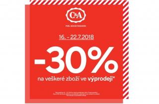 -30% na všechno zboží ve výprodeji