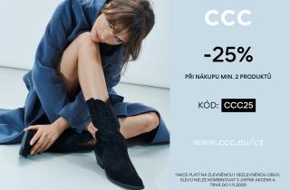 Sleva 25% v CCC