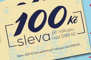 Sleva 100 Kč při nákupu 599 Kč