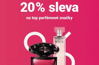20% sleva na top parfémové značky