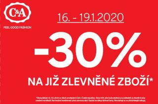 Akce -30 % na již zlevněné zboží