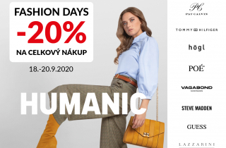 HUMANIC Fashion Days - sleva 20 % na vše!